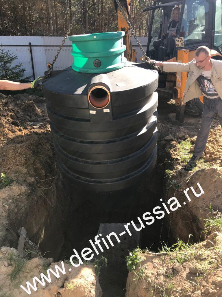Септик DELFIN PRO Монтаж